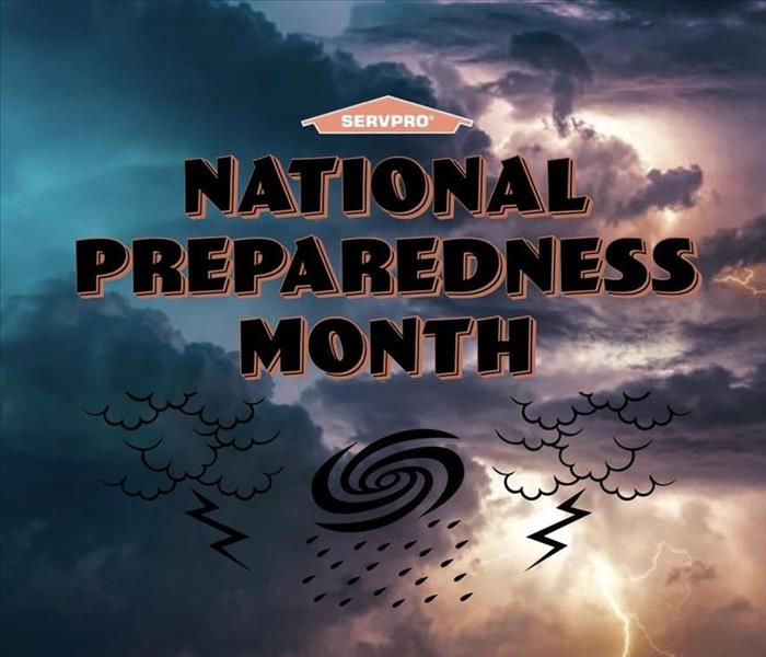 "A stormy sky with a quote: ""National Preparedness Month."""