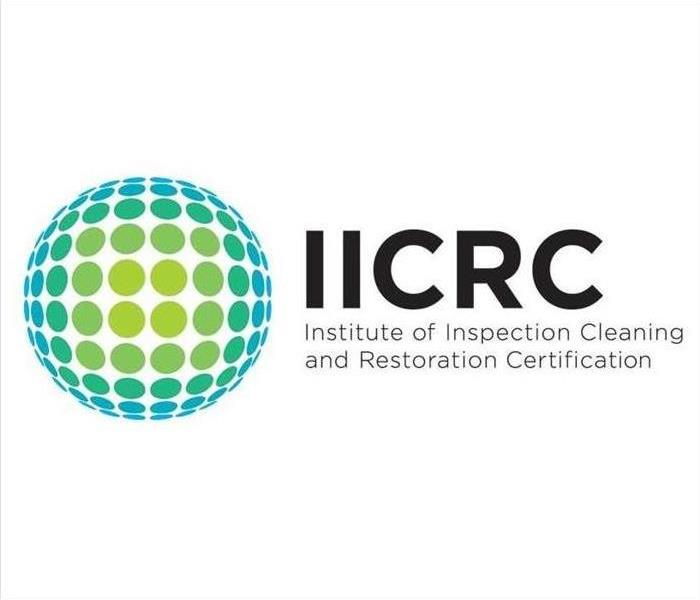 Image consist of the text showing that IICRC stands for Institute of Inspection Cleaning and Restoration Certification